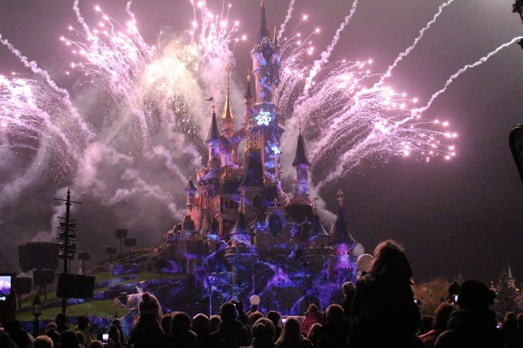 Disneyland Paris castle fireworks