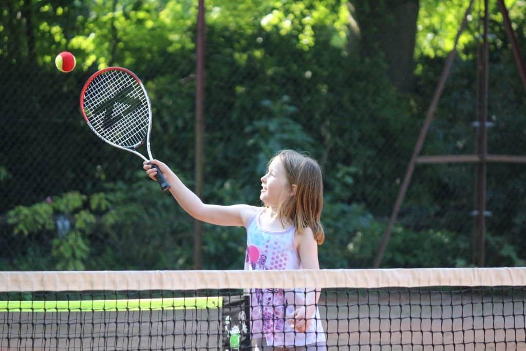 Girl tennis lessons