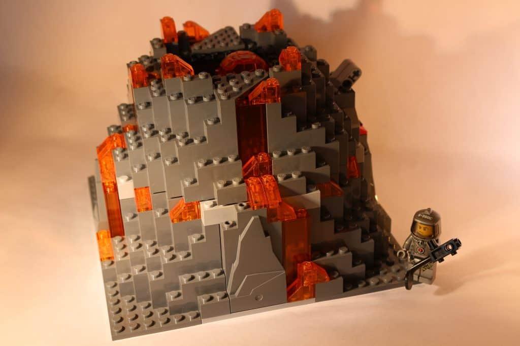 Lego City erupting Volcano