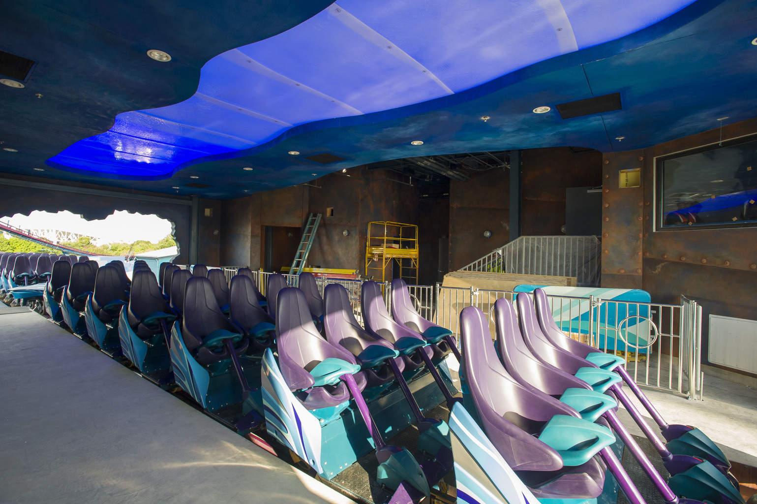 Mako coaster Sea World seat design