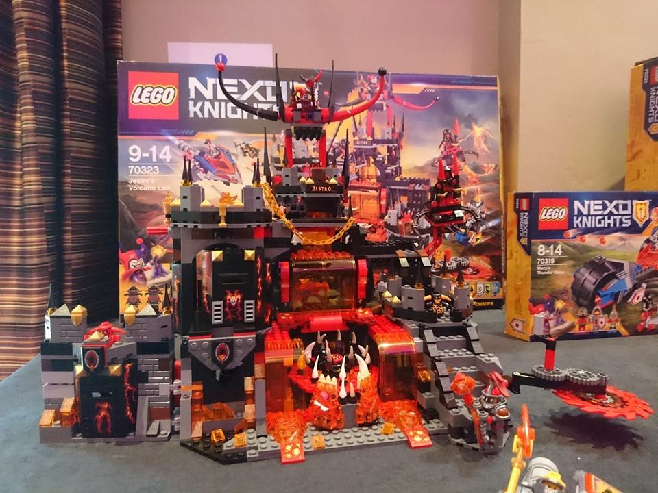 nexo knights volcano lair