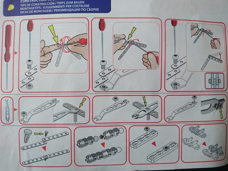 meccano tool instructions