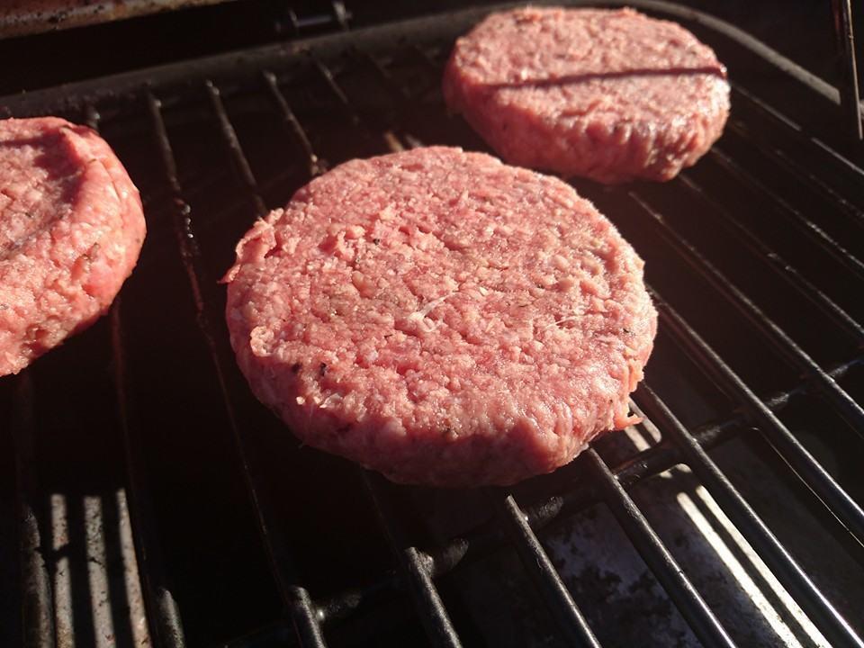 uncooked burgers