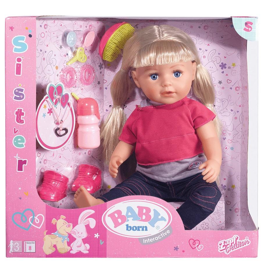 baby born sister doll box