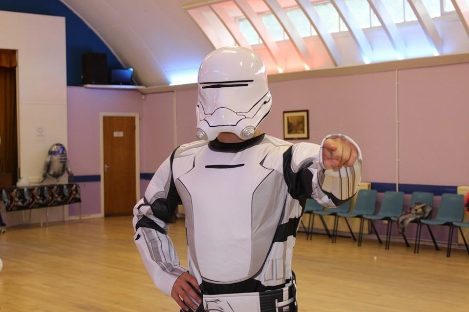 star wars party flame trooper